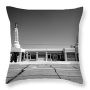 Route 66 - Conoco Tower Station 4 Throw Pillow