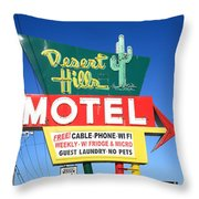 Route 66 - Desert Hills Motel Throw Pillow