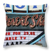 Route 66 - Desert Skies Motel Throw Pillow