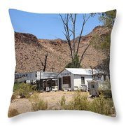 Route 66 - Ed's Camp Throw Pillow