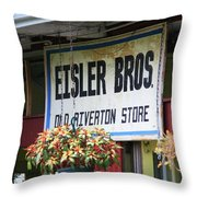 Route 66 - Eisler Brothers Old Riverton Store Throw Pillow