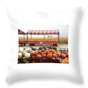 Route 66 Farmstand Throw Pillow