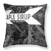 Route 66 - Funk's Grove Sirup Throw Pillow