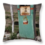 Route 66 Gas Pump - Adrian Texas Throw Pillow