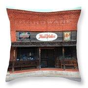 Route 66 - Hardware Store Erick Oklahoma Throw Pillow