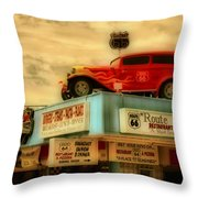Route 66   Hdr Throw Pillow