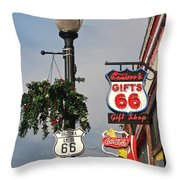 Route 66 In Williams Arizona Throw Pillow
