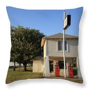 Route 66 - Lucilles Gas Station Throw Pillow
