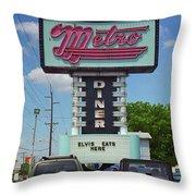Route 66 - Metro Diner Throw Pillow