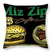 Route 66 Miz Zips Throw Pillow