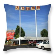 Route 66 - Munger Moss Motel Throw Pillow