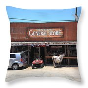 Route 66 - Oatman General Store Throw Pillow