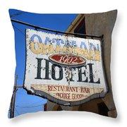 Route 66 - Oatman Hotel Throw Pillow