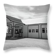 Route 66 - Odell Gas Station Throw Pillow