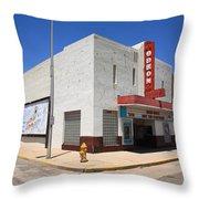 Route 66 - Odeon Theater Throw Pillow