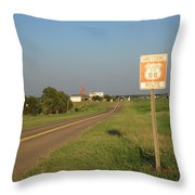 Route 66 - Oklahoma Throw Pillow