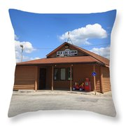 Route 66 - Old Log Cabin 3 Throw Pillow
