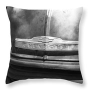 Route 66 - Old Rusty Chevy Throw Pillow