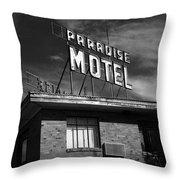 Route 66 - Paradise Motel 2 Throw Pillow