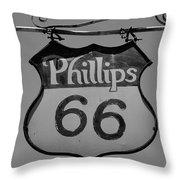 Route 66 - Phillips 66 Petroleum Throw Pillow