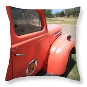 Route 66 Pickup Truck Throw Pillow