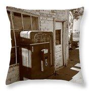 Route 66 - Rusty Coke Machine 2 Throw Pillow