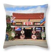 Route 66 - Sandhills Curiosity Shop Throw Pillow
