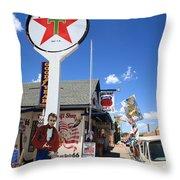 Route 66 - Seligman Arizona Throw Pillow