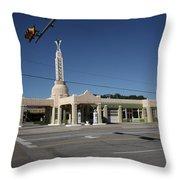 Route 66 - Shamrock Texas Throw Pillow