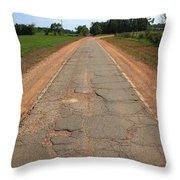 Route 66 - Sidewalk Highway Throw Pillow