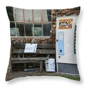 Route 66 Sinclair Gas Station Throw Pillow