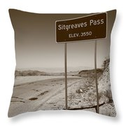 Route 66 - Sitgreaves Pass Throw Pillow