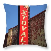 Route 66 - Stovall Theater Throw Pillow