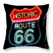 Route 66 Throw Pillow by Theodore Clutter