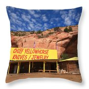 Route 66 Trading Post Throw Pillow