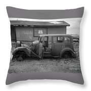 Route 66 Travels Throw Pillow