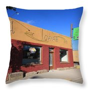 Route 66 - Uranium Cafe Throw Pillow