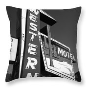 Route 66 - Western Motel 7 Throw Pillow