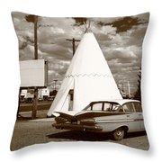 Route 66 - Wigwam Motel 15 Throw Pillow