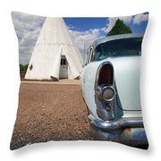 Route 66 Wigwam Motel Throw Pillow
