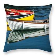 Row-boats Throw Pillow