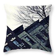 Row Houses In Washington Heights Throw Pillow