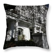 Row Of Edwardian Houses In London Throw Pillow