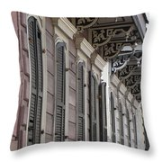 Row Of Houses Throw Pillow