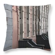 Row Of Houses II Throw Pillow
