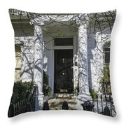 Row Of Victorian Houses In London Throw Pillow