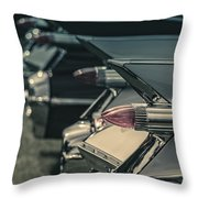 Row Of Vintage Car Fins Throw Pillow