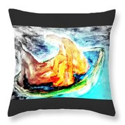 in a boat with you, my love, I will soon forget all about who I am   Throw Pillow