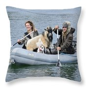 Row Your Goat Throw Pillow
