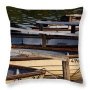 Rowboats At A Lake Throw Pillow